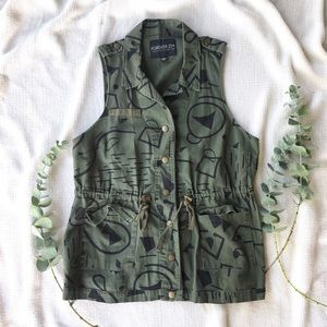 Forever 21 + Military Army Utility Jacket Vest XL